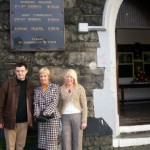 Michael Matthews, Glynis Crawford and Debbie Hill at the final Church Service held at St.Luke's Parish Church, Belfast, where County Antrim Harriers was formed in 1895