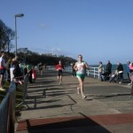 Glen Wilson finishing Larne Half Marathon 2010