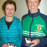 Winners Irene Downey and Christine Murray at Whitehead 5 Mile Race