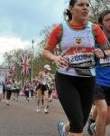 Lisa Morgan at the Virgin London Marathon