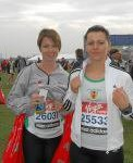 Claire Oliphant & Roberta Henry at the Virgin London Marathon