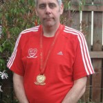 Ricky Mason with his Virgin London Marathon medal