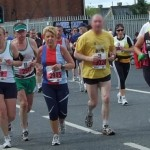 The chasing pack at Belfast Marathon