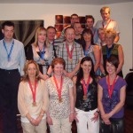 County Antrim Harriers celebrate their marathon achievements at the club's annual Marathon Night out.