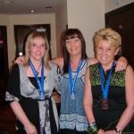 Gillian Hanna, Elaine McKee & Debbie Hill at the club's annual Marathon Night out.