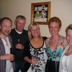Jim Hodgens, Jonathan & Pamela Turner, Christine Murray and Helen at Club BBQ