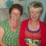 Irene Downey and Naomi Montgomery enjoy CAH Club BBQ