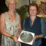 Christine Murray presenting Irene Downey with her Veteran Athlete of the Year Award