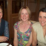 Relaxing after the County Antrim Harriers' AGM are Irene Downey, Naomi Hoy and Roberta Henry
