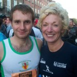 Russ and Christine at the start of the Dublin Marathon