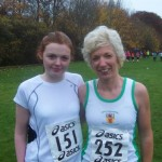 Hannah Welshman and Christine Murray at the Ballyclare Cross Country Races 6th November 2010