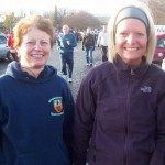 Irene Downey and Amanda Jayne Campbell at the Seeley 10K Road Race