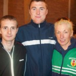 Russell Hughes, Gary Stitt & Christine Murray finished first in the Larne Half Marathon relay race.