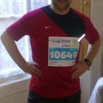 Jim Hodgens getting ready for Edinburgh Marathon