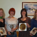 (L to R) Christine Murray, Louise Smart. Lisa Montgomery and Ruth Morrison, who all awarded prizes at the County Antrim Harriers AGM