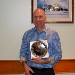 Chris Barrett from Ballyrobert was County Antrim Harriers' Male Newcomer of the Year