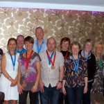 Members enjoying a night out after the Belfast Marathon