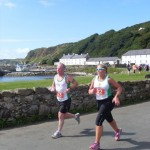 Colin Gilmore & Christine Neeson running Rathlin 10ml Challenge