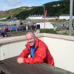 Colin Gilmore relaxing after Rathlin
