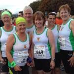 Eileen, Marion, John, Katherine, Grace and Jean after Laganside 10K