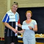 Irene Downey 1st FV50 Winner at the Ballymoney Milk Race