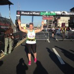 Shelley at Finish of Dublin Rock n' Roll Half