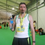 Bob Carson after the Belfast Half Marathon 2014