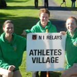 Helen Collins, Irene Downey and Christine Murray the CAH Ladies Masters A Team at the NI Relay Championships