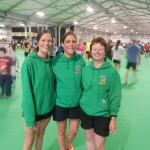 Helen Collins, Rachel Lloyd and Irene Downey at the Belfast Half Marathon 2014