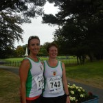 Natalie Davidson and Irene Downey after the Bangor 10K Classic