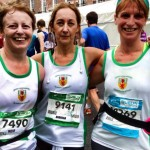 Irene Downey, Andrena Berry and Lyn Hardie after the Dublin Marathon