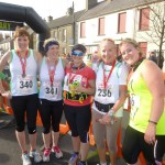 Jane Kinnear, Sarah Kinnear, Talitha Collins, Kim Gleave and Ally Bennett at The Great Dundrum Run