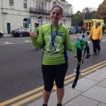 Talitha Collins after the Dublin Marathon