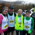 Ally Bennett, Raymond Hilman, Kim Gleave and Marion Morrow at Tollymore 10k