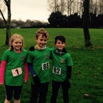 Hannah, Reece and Charlie at the Malcom Cup x-c under 11's race