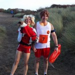 Louise and Glen alias Pamela Anderson and the Hoff at Waggy Dog Races with Dexter