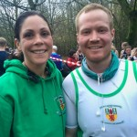 Rachel Lloyd and Aaron Anderson at Seeley 10k