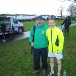 Raymond Hilman and Isaac Fahy at Moira Cross Country