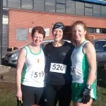 Irene, Helen and Christine at Stormont x-c