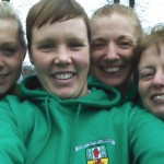 Natasha Henderson, Jane Kinnear, Christine Murray and Irene Downey at Lurgan x-c