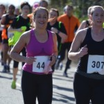 Angela Owens and Lindsay Kennedy at AES Larne Half Marathon