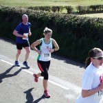 Cathy Hopkins on the Larne Half Marathon Course