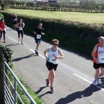 Irene Downey on the Larne Half Marathon Course