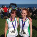 Lyn and Jennifer Hardie after the Larne Half Marathon