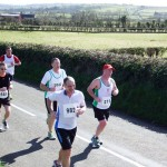 Nigel Snoddy and Colin Gilmore at the Larne Half Marathon