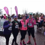 Samantha Lowry, Talitha Collins, Stephanie Watson and Shelley Boyle at the 5K Easter Bunny Hop