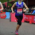 Cathy Hopkins running in the Virgin London Marathon for Great Ormond Street