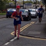 Christine Murray running Cameron Lindsay's Marathon
