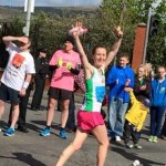 Jayne McKeever in the Belfast Marathon