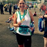 Rachel Lloyd in the Belfast Marathon